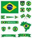 Brazil flag complete collection Stock Photos