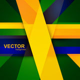 Brazil flag concept colorful creative wave. Design Stock Photos