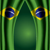 Brazil Flag Curtain Royalty Free Stock Photo