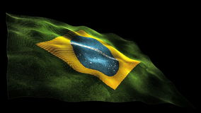 3D waving Brazilian flag stock video
