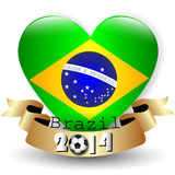 Brazil flag football Royalty Free Stock Photos