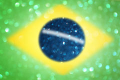 Brazil flag with glitter lights and texture Royalty Free Stock Image