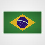 Brazil flag on a gray background. Vector illustration. Brazi l flag on a gray background. Vector illustration Royalty Free Stock Photo