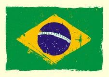 Brazil_flag_grunge 免版税库存图片