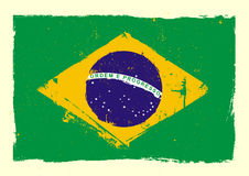 Brazil_flag_grunge Royalty Free Stock Images