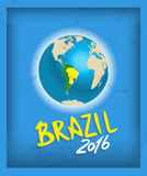 Brazil flag with grunge texture Royalty Free Stock Images