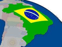 Brazil with flag Royalty Free Stock Photo