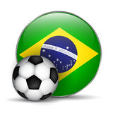 Brazil flag icon. On a white background Royalty Free Stock Image