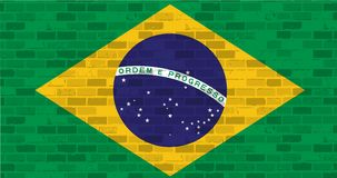 Brazil flag illustration design graphic Royalty Free Stock Photography