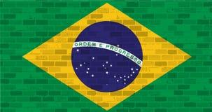 Brazil flag illustration design graphic Royalty Free Stock Photography