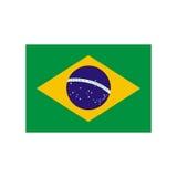 Brazil flag illustration Royalty Free Stock Photo