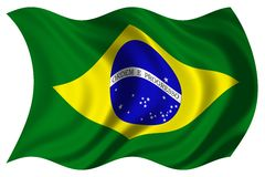 Brazil flag isolated Stock Photos