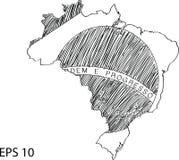 Brazil Flag Map Vector Sketch Up Royalty Free Stock Photos