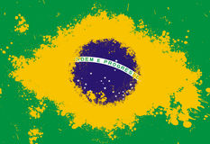 Brazil flag. Painted wth splash paint Stock Images