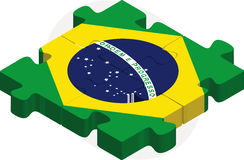 Brazil Flag in puzzle Royalty Free Stock Image