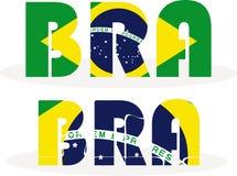 Brazil Flag in puzzle Stock Photo