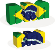 Brazil Flag in puzzle Stock Photos