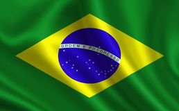 Brazil flag. A series of `Flags of the world.` The country - Brazil flag Stock Illustration