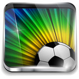 Brazil Flag with Soccer Ball Background Royalty Free Stock Photos