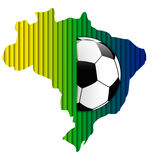Brazil Flag with Soccer Ball Background. Vector - Brazil Flag with Soccer Ball Background Stock Photography