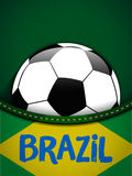 Brazil Flag with Soccer Ball Background Stock Photography