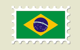 Brazil Flag Stamp Royalty Free Stock Photography