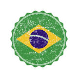 Brazil flag stamp with grunge. Vector illustration. Brazil  flag stamp with grunge. Vector illustration Stock Images