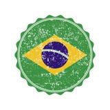 Brazil flag stamp with grunge. Vector illustration Stock Images