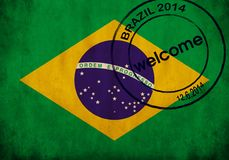 Brazil flag Stock Photos