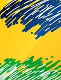 Brazil flag themed abstract background. Design Royalty Free Stock Image