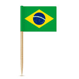Brazil flag toothpick 10eps Royalty Free Stock Images