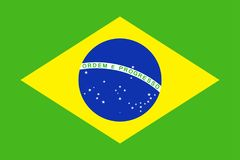 Brazil Flag Vector Flat Icon. Brazil Flag Vector Icon - Illustration Stock Image