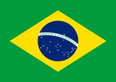 Brazil flag vector. Illustration graphic Royalty Free Stock Image