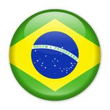 Brazil Flag Vector Round Icon. Illustration Stock Photography