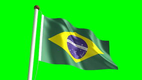 Brazil flag stock video