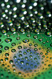 Brazil flag. In waterdroplet reflection stock image