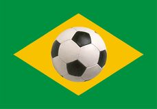 Brazil flag World Cup 2014. Icon - isolated vector illustration Stock Photos