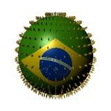brazil flaga ludzie sfery ilustracja wektor
