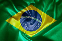brazil flagga Royaltyfri Bild