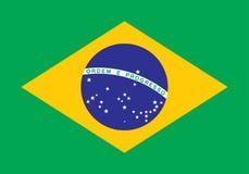 brazil flagga Royaltyfria Foton