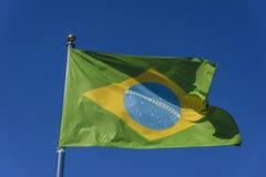 brazil flagga Arkivbild