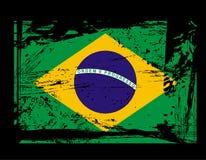 brazil flaggagrunge Royaltyfri Foto