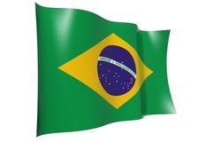 brazil flaggavåg royaltyfri illustrationer