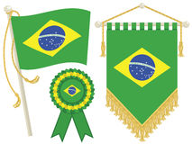 Free Brazil Flags Royalty Free Stock Photography - 25576857
