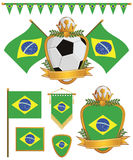 Brazil flags Royalty Free Stock Photo
