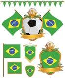 Brazil flags stock illustration