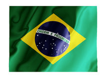 Brazil fluttering. Fluttering image of the Brazilian national flag Royalty Free Stock Images