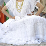 Brazil folk costume. Detail of one of the folk costume of Brazil Royalty Free Stock Photo