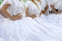 Brazil folk costume. Several girls wearing one of the folk costume of Brazil Stock Photo