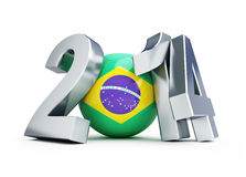Brazil football 2014. On a white background Royalty Free Stock Images
